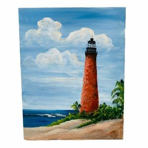 Hand painted Key West Lighthouse Picture